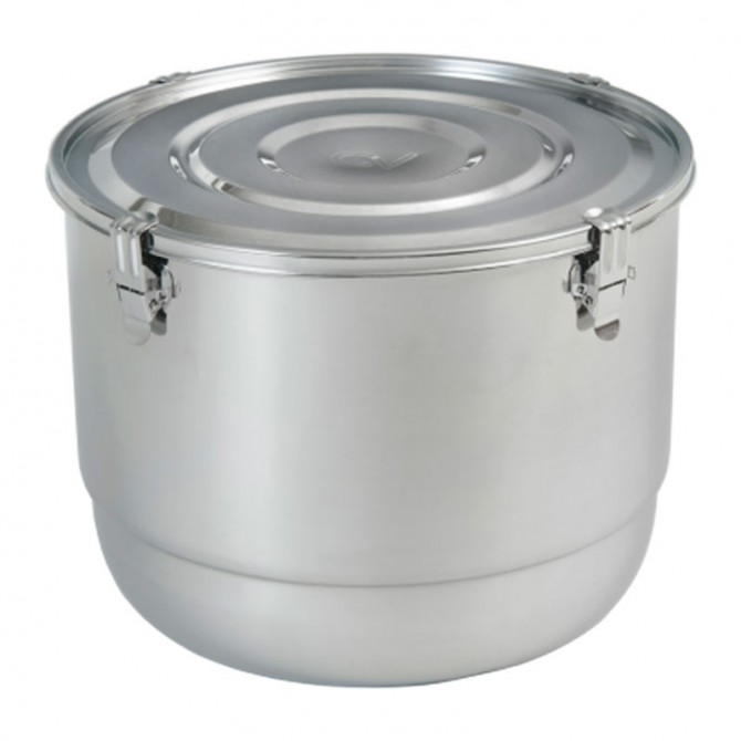 21 Liter Stainless Steel Container with Lid - CVault Dispensary Containers